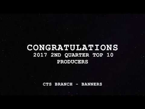 Banners' 2017 2nd Quarter Top 10 Producers