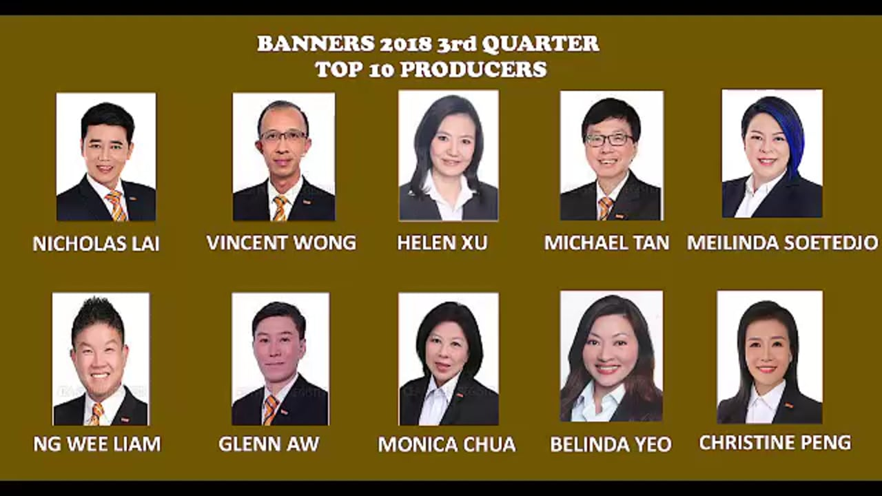 Banners' 2018 3rd Quarter Top 10 Producers