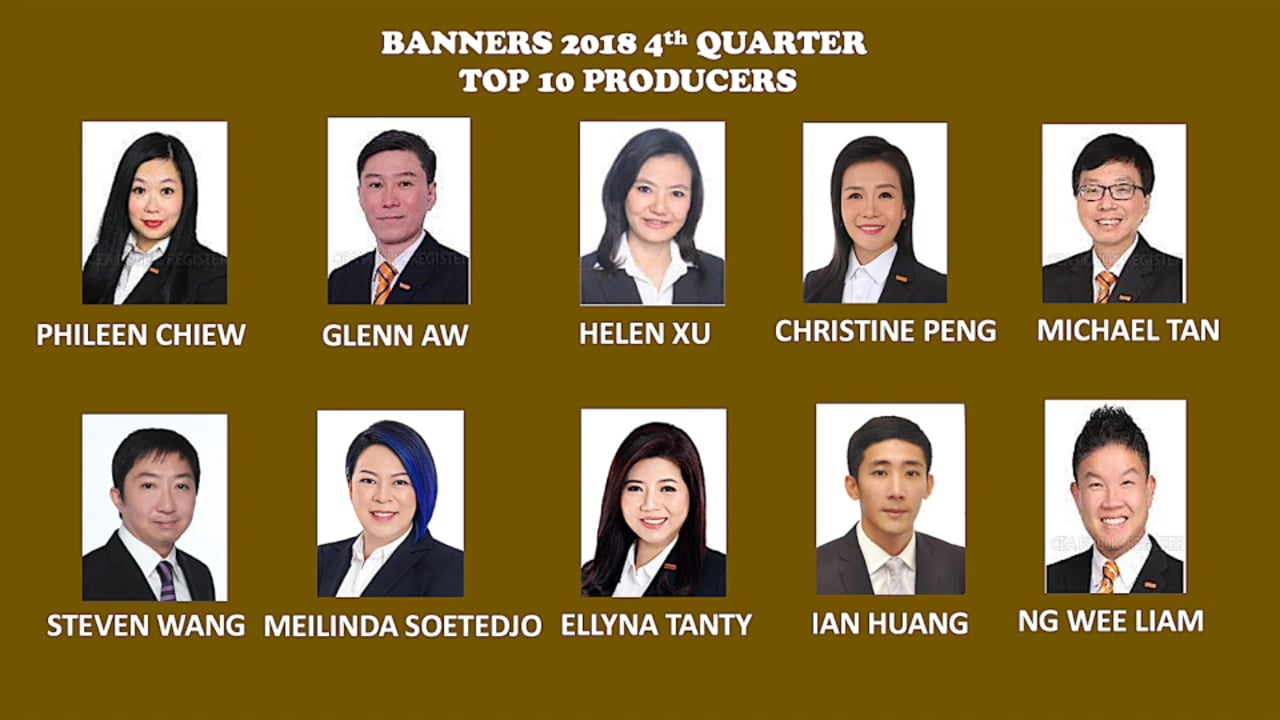 Banners' Year 2018 4th Quarter Top 10 Producers